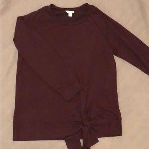 Caslon Light Sweatshirt - Maroon